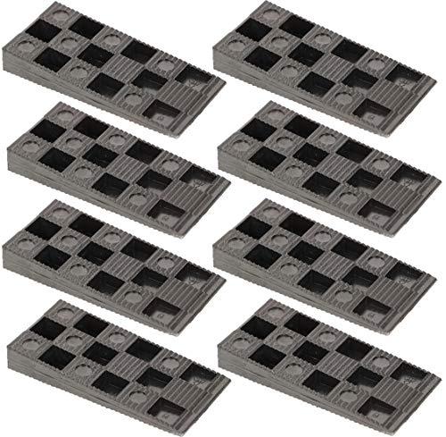 KOTARBAU® 50er Set Montagekeile Kunststoff 94 x 44 x 14 mm für Fenster Türen Türzarge Fensterrahmen Schwarz