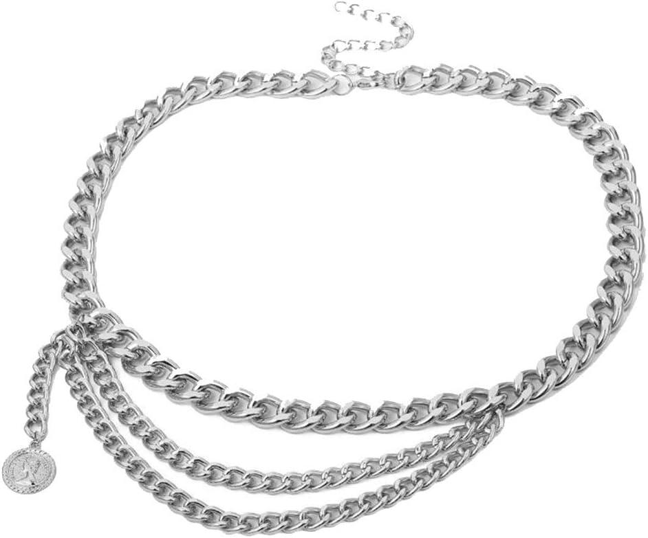 GROSSARTIG Ladies' Fringed Ring Geometric U-Shaped Tassel Waist