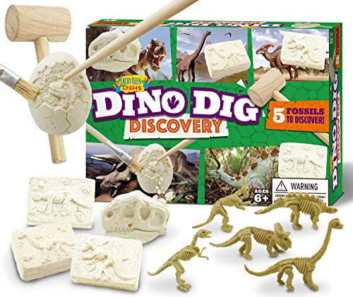 Peachy Keen Crafts Dinosaur Dig Kit - Education Gift for Boys and Girls - Fossil Discovery Kit