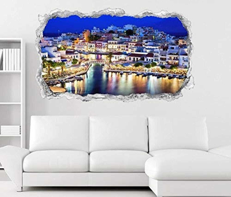 3D Wandtattoo Kreta Kreta Kreta Griechenland blau Paradies Wand Aufkleber Durchbruch Stein selbstklebend Wandbild Wandsticker 11N404, Wandbild Größe F ca. 162cmx97cm B071LL928D 6c344b