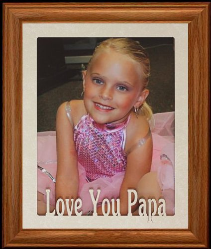 PersonalizedbyJoyceBoyce.com 8x10 Love You PAPA Portrait Photo Laser Name Frame ~ Fruitwood Stained Frame ~ Gift for Papa