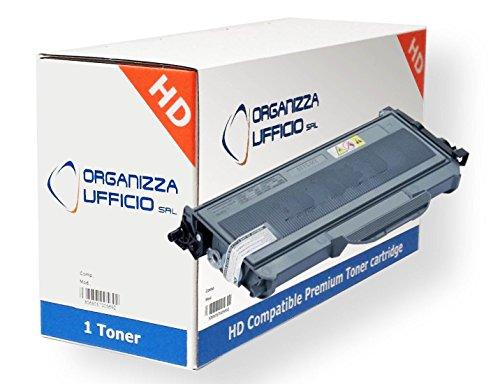 ORGANIZZAUFFICIO Toner Compatibile con Brother TN2120, TN2110, DCP-7030, DCP-7040, DCP-7045N, MFC-7320, MFC-7440N, MFC-7840W, HL-2140, HL-2150N, HL-2170W, 2.600 Pagine
