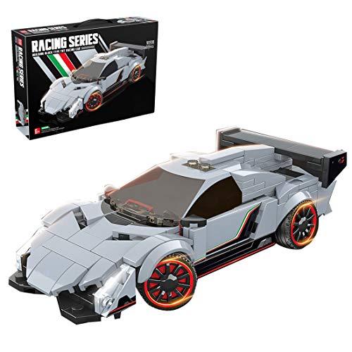 LAKA Techniker Rennwagen Modell 322 Stück Baustein Sportwagen Montage Lernspielzeug für Lamborghini Veneno Kompatibel mit Lego