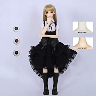 HWOEK 1/3 Anime Girl Doll, Set of Skirt Wigs Shoes Accessories Full Set Ball Jointed Doll 55CM Princess DIY Dress Up Chang...