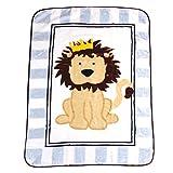 Luvable Friends Unisex Baby High Pile Plush Blanket, Lion, One Size