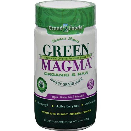 Green Foods Dr Hagiwara Green Magma Barley Grass Juice Powder - Organic and Raw - Vegan - Gluten Free - Non GMO - 250 Tablets (Pack of 2)