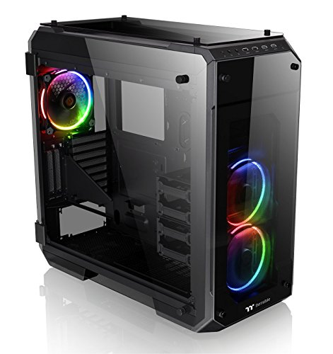 Thermaltake View 71 RGB 4-Sided Tempered Glass Vertical GPU Modular E-ATX Gaming Full Tower Computer...
