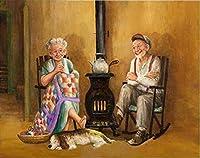 DIY老夫婦5Dダイヤモンド絵画フルスクエアドリル樹脂漫画ダイアモント刺繡クロスステッチ家の装飾壁アート