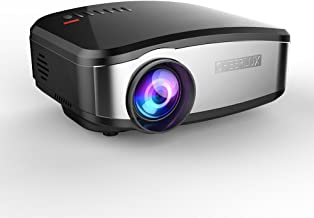 Projector, Mini LED Multimedia Video LCD Projector 1200lumen Max 130'' Screen for Home Theater Cinema, Movie, iPhone, Ipad, Chromecast, TV, Laptop, DVD, MHL, Gaming with HDMI USB VGA AV by Cheerlux
