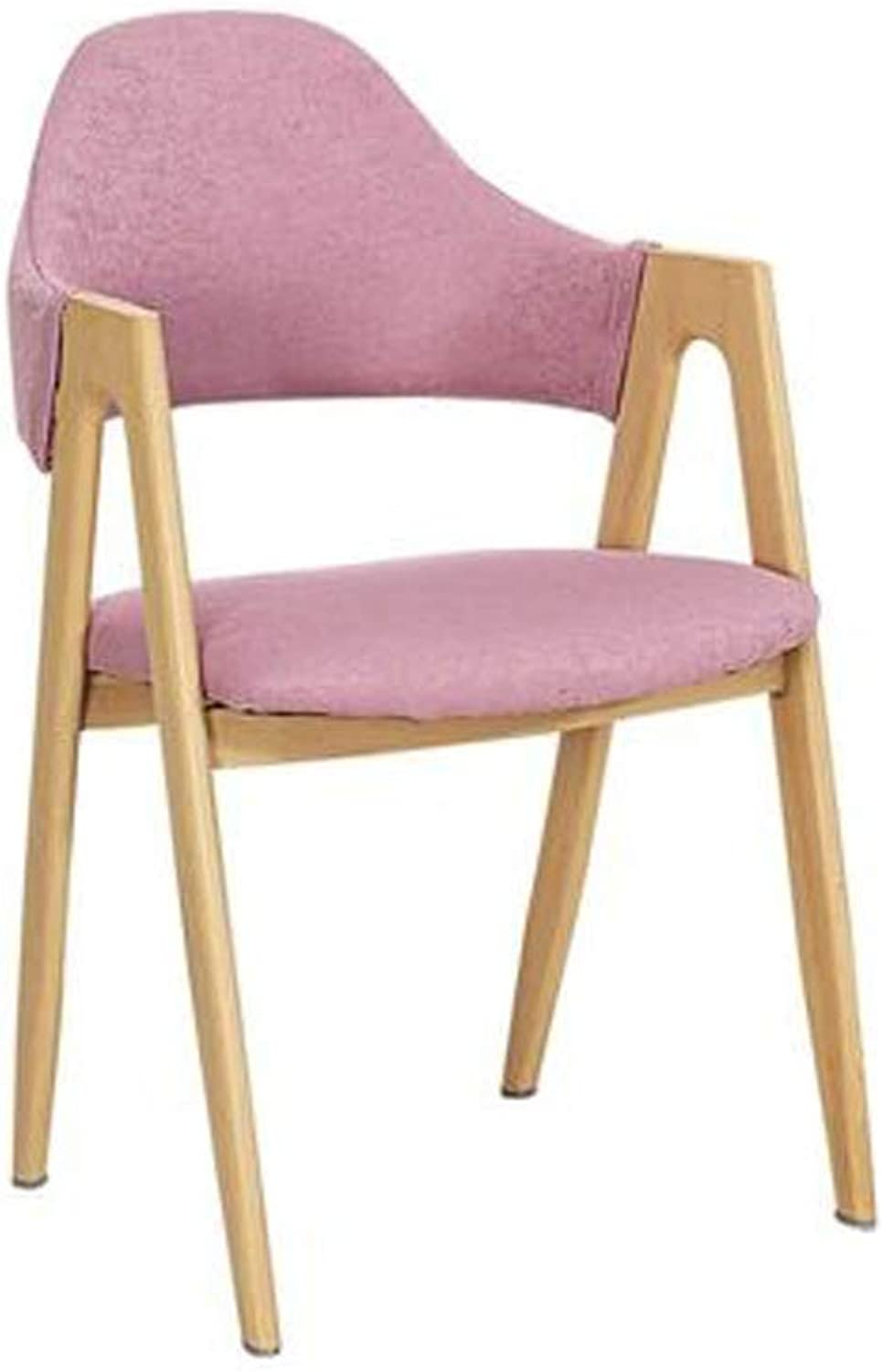 Barstool Nordic bar Chair Wrought Iron with backrest Linen Casual 4 colors 52  46  81cm (color   Pink)