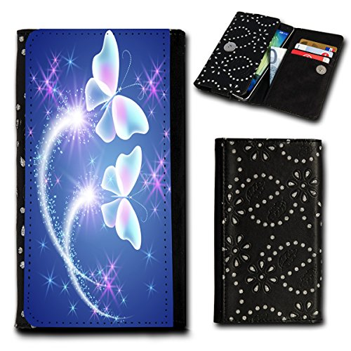 Strass Book Style Flip Handy Tasche Hülle Schutz Hülle Foto Schale Motiv Etui für Alcatel OneTouch Go Play - Flip SU2 Design12
