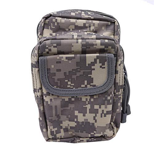 Generic Lionmer Fashion Utility Pouch Taillentasche Reißverschluss Nylon Multi Compartments Waist Pack,Graue Tarnung