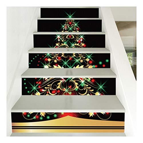 SERFGTFH Treppen Sticker Frohe Weihnachten 3D-Schneemann Boden Schritt Dekorative Aufkleber Wand Dekor Aufkleber Aufkleber Wohnzimmer Für Home Decor