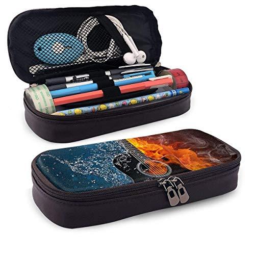 Bolsa organizadora de bolsa de almacenamiento con cremallera doble de gran capacidad para guitarra musical