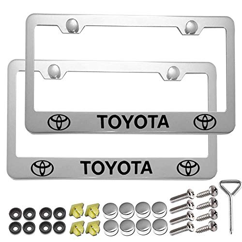 Carsport 2 Pcs Premium Aluminum Alloy License Plate Frame fit to yota, for Toyo ta Tag License Plate