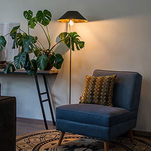 Qazqa Lampadaire | Lampe sur pied Art Deco - Knick Lampe Doré Noir - E27 - Convient pour LED - 1 x 40 Watt