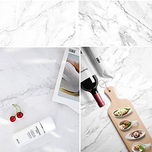 Selens - Fondale di carta 2 in 1, 56 x 88 cm, colore: marmo bianco, doppio sfondo per fotografie, studio fotografico, per piccoli prodotti cosmetici