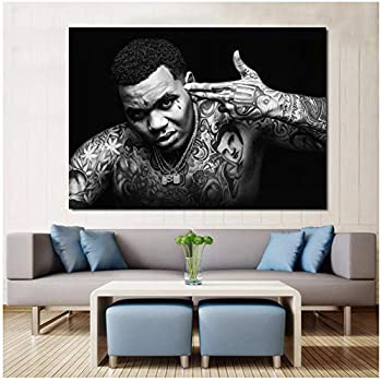 ASLKUYT Kevin Gates Rapper Music Singer Star Canvas Painting Poster Prints Canvas Wall Picture for Home Room Decor-50x80cm No Frame