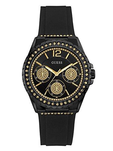 Guess Reloj Cronógrafo para Mujer de Cuarzo con Correa en Silicona W0846L1