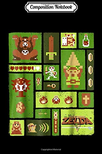 Composition Notebook: Nintendo Legend Of Zelda Pixel Collage Graphic  Journal/Notebook Blank Lined Ruled 6x9 100 Pages