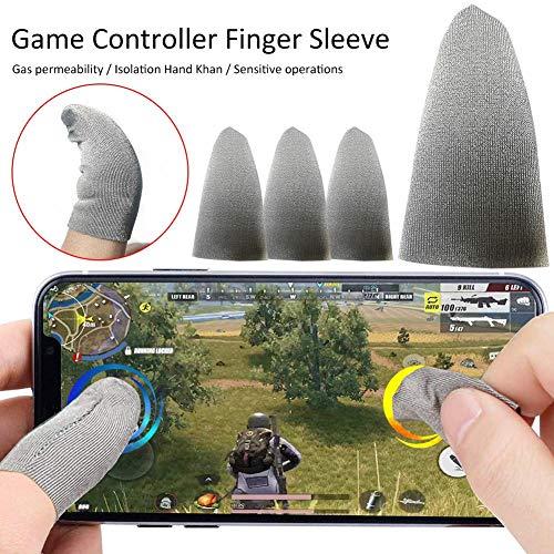 cineman Touchscreen Finger Cot, 4pcs Mobile Game Controller Finger Sleeve Set Für Ist rutschfest, Tropfenfest, Ölbeständig Und Gegen Fingerabdrücke Geschützt