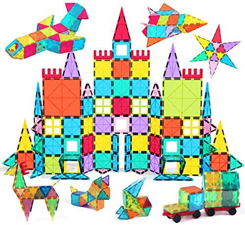 small Jasonwell 108pcs Magnetic Block Children's Magnetic Tiles Building Blocks 3D Magnetic Tiles Set…