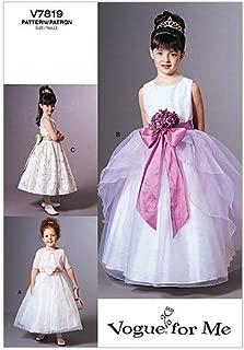 Vogue Patterns V7819 Children's Jacket and Dress, Size 2-3-4