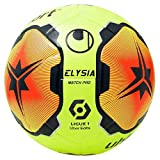 uhlsport Elysia Match Pro Ballon de Football Jaune/Fluo Orange/Marron 5