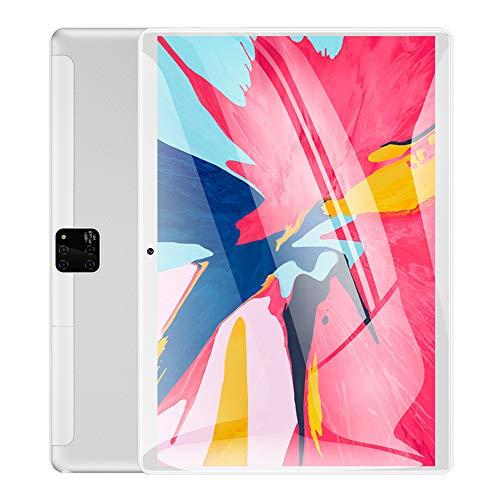 YXW Tableta táctil, Pantalla IPS HD de 10 Pulgadas, Tarjeta SIM Dual, procesador de Cuatro núcleos, WiFi, Bluetooth, GPS, Almacenamiento de 32 GB, cámara de 2.0MP + 5.0MP