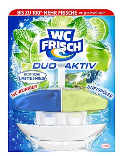 WC FRISCH Duo-Aktiv Exotische Limette & Minze, WC-Reiniger und Duftspüler (1 Stück)