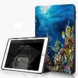 She Charm Carcasa para iPad 10.2 Inch, iPad Air 7.ª Generación,Paisaje Submarino de arrecifes de Coral,Incluye Soporte magnético y Funda para Dormir/Despertar