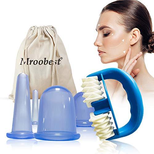 Ventouse Anticellulite, Roller Minceur, Kit Ventouse Anticellulite, Ventouse Silicone, Convient pour les fesses, L'abdomen, Les bras, Les jambes, Etc anti-cellulite, Réduit la graisse, Anti-âge