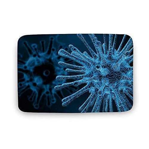 ART VVIES Virus Mikroskop Infektionskrankheit Tod Medizinische Drucke für Hauptdekorationen Reißverschluss Dekokissen Cases 40x60x0,8 cm Abdeckungen Design