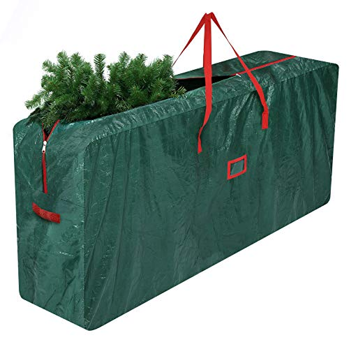 Tvird Christmas Tree Storage Bag, Christmas Tree Bag Waterproof Heavy Duty Xmas Tree Bag- with Durable Reinforced Handles and Dual Zipper - Fits Up to 9ft Tall Trees and other Christmas Decorations