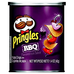 Pringles BBQ Flavored Potato Crisps Chips, 1.4 Ounce