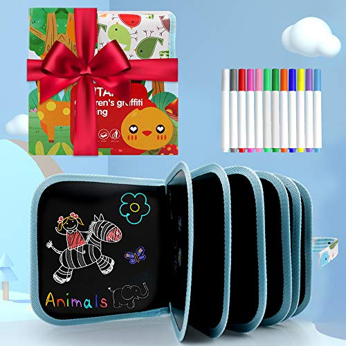 Erasable Drawing Pad Toys(Bird)-Best Children's Day Gift, Road Trip Car Travel Airplane Activities Game, Magna Reuse Portable Writing Board for Kids Toddlers Boys Girls Gift Age 2 3 4 5 6 7 8 Year Old
