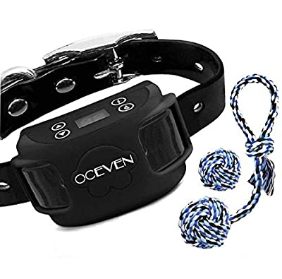 OCEVEN Wireless Dog Fence System-Wireless Pet Fence-Wireless Containment System for Dogs for Outdoor Rechargeable Waterproof Collar 850YD Remote for 15lbs-120lbs Dogs (Black)