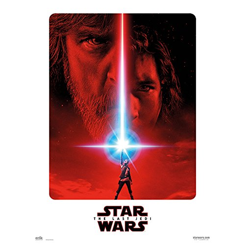 Grupo Erik Print Bild-Poster Star Wars VII The Last Wand-Dekoration, Episode VIII Die Letzten Jedi, 30X40
