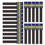 DECARETA 30 Tubos Recargas de Plomo Lápiz Automático, Recarga de Lapiz de 0.7MM HB Portaminas,360 Piezas de Minas Oficina y Papelería Escolar para Dibujo Escritura Bosquejo