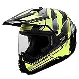 Fulmer 1011826 Static Adult Dual Sport Helmet - Hi-Viz, 2XL