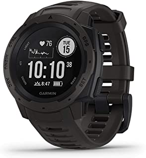 [ガーミン]GAMIN メンズ レディース GPSアウトドアウォッチ Instinct インスティンクト スマートウォッチ スポーツ Instinct Graphite 腕時計 [国内正規品]