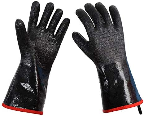 To Doodles Extreme Heat Resistant BBQ Grill Gloves 932 Food Grade Neoprene Coating Fireproof product image