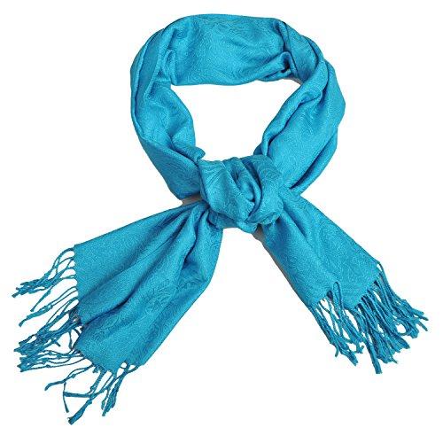 RdChicLog Ligero de la moda bufanda larga bufanda suave de color puro...