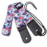 Small flower-shaped Hawaiian style ukulele strap, polyester material, adjustable length, for ukulele and small guitar