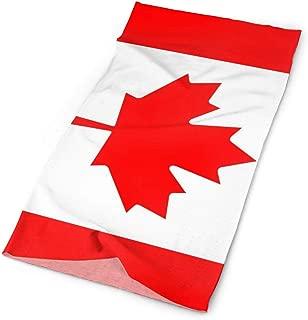 INStophot Flag of Canada National Flag Maple Leaf Canadian Flag Headband Bandana Mask Sports Seamless Breathable Turban for Workout, Fitness, Running, Cycling, Yoga