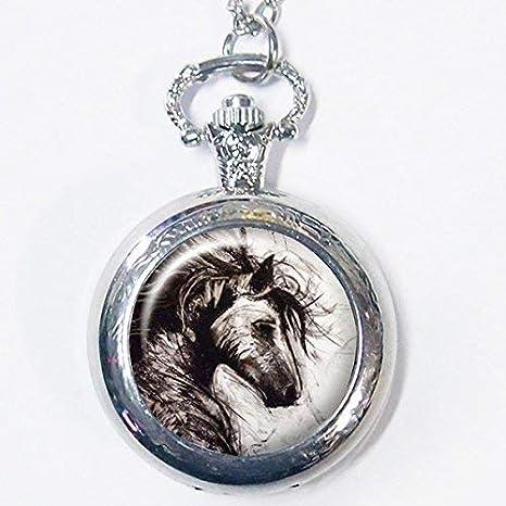 Reloj de bolsillo de caballo antiguo, hermoso colgante de caballo, joyería de plata vintage, joyería de arte, colgante de moda,