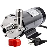 OneBom Brewing Pump, MP- 15R Magnetic Beer Water Pump,Stainless Steel 304 Food Grade, High Temperature Resistance with CE...