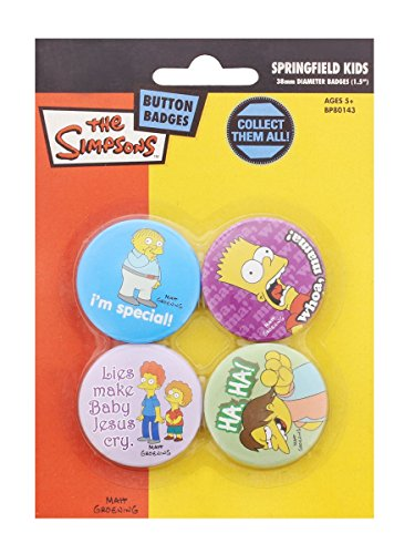 Simpsons Ansteck-Buttons Design 1 (4)