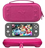 ButterFox Slim Carrying Case for Nintendo Switch Lite with 19 Game and 2 Micro SD Card Holders, Storage for Switch Lite Accessories (Premium Pink)