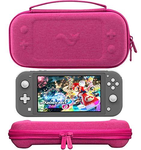 ButterFox - Funda compacta para Nintendo Switch Lite con 19 juegos y 2 soportes para tarjetas Micro SD, color rosa